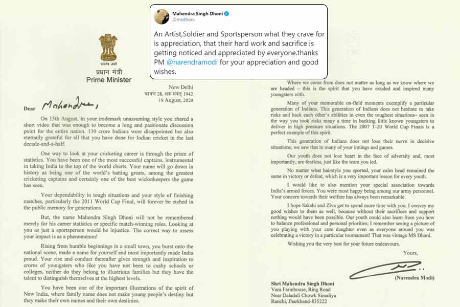Your concern towards Indian Army welfare has been remarkable PM Modi pens heart touching note to MS