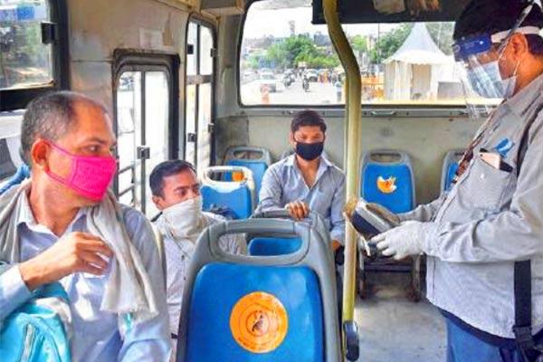 Coronavirus can spread in bus