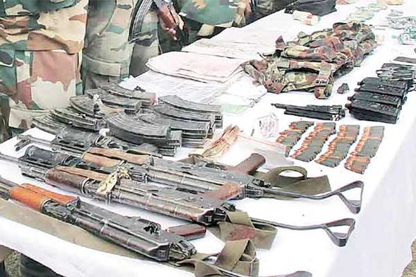 Arms seized from Kulgam airdropped by drone