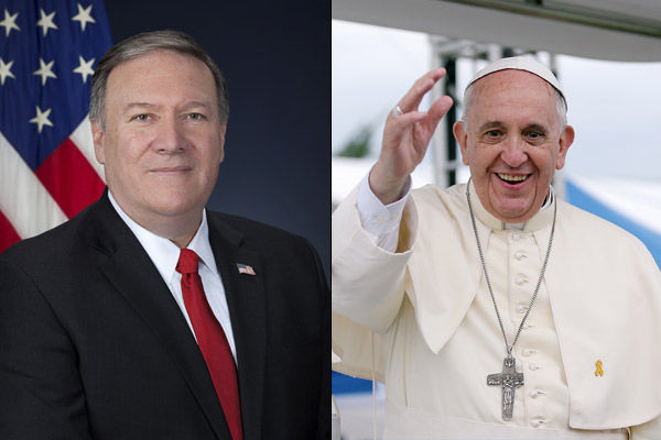 Pope Francis refuses to meet Pompeo