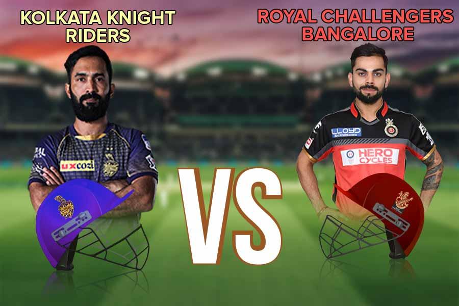 Kolkata Knight Riders versus Royal Challengers Bangalore