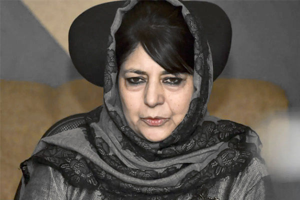 Mehbooba Mufti after release