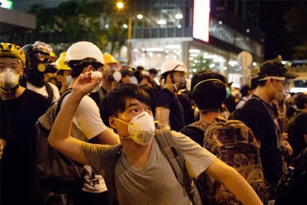 Protest against China in Taiwan against the arrest of Hong Kong protesters