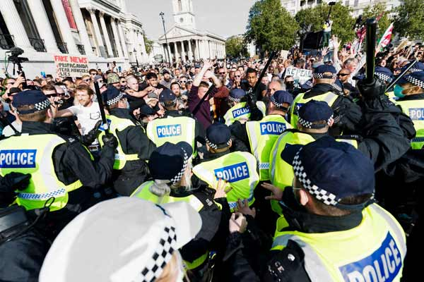 Violent Protests Against Lockdowns In England And Spain