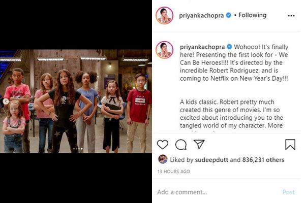 Priyanka Chopra Shared First Look Of Her Second Netflix Original We Can Be Heroes