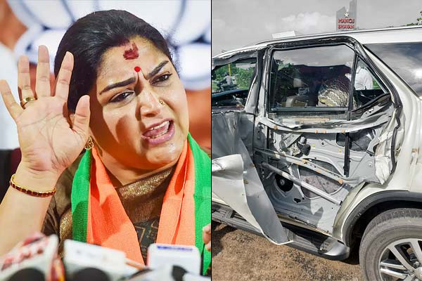 Khushbu Sundar meets with accident