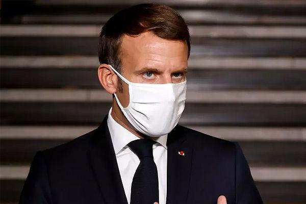 Macron on testing Covid positive
