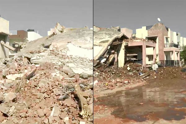 ONGC Gas Pipeline Explosion in Gujarat 2 Dead After Several Houses Collapse Following Blast Due to G