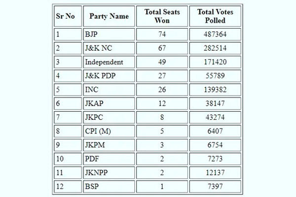DDC election results