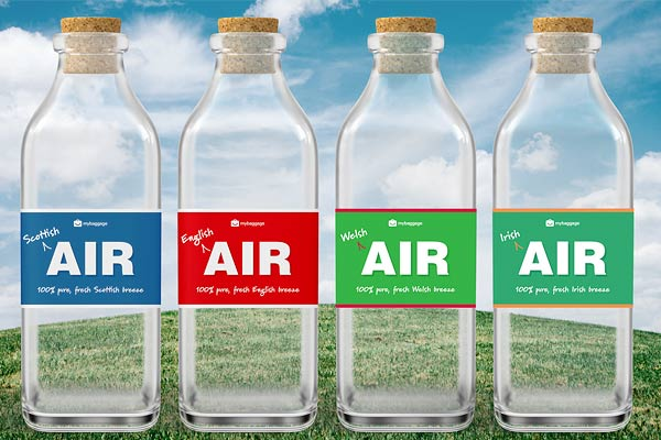 Bottles of 'authentic' air