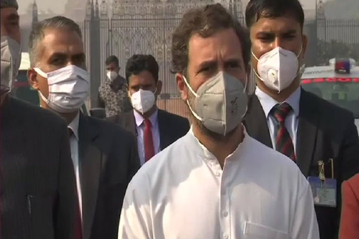 Rahul Gandhi Protest against Farm Laws