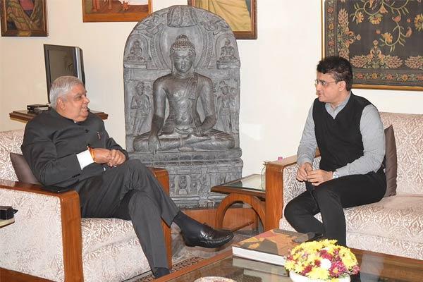 Sourav Ganguly meet Jagdeep Dhankhar