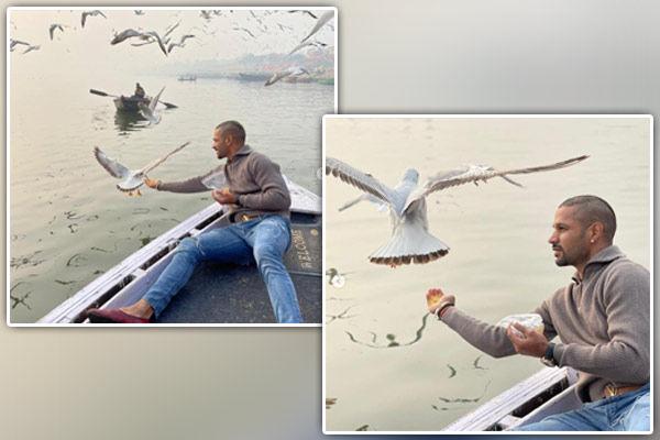 Shikhar Dhawan feeds birds in Varanasi, case filed
