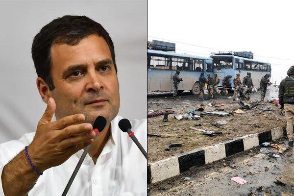 Rahul Gandhi Targeted PM Modi On Pulwama Terror Attack