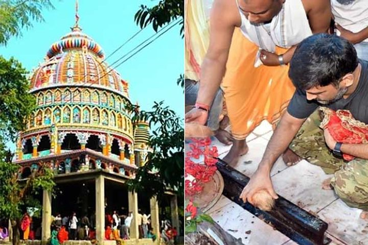 Dhoni Visited The Dewri Temple In Ranchi