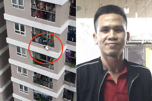 A Delivery Driver In Hanoi Saved A Two Year Old Girl Who Fell From A 12th Floor Balcony