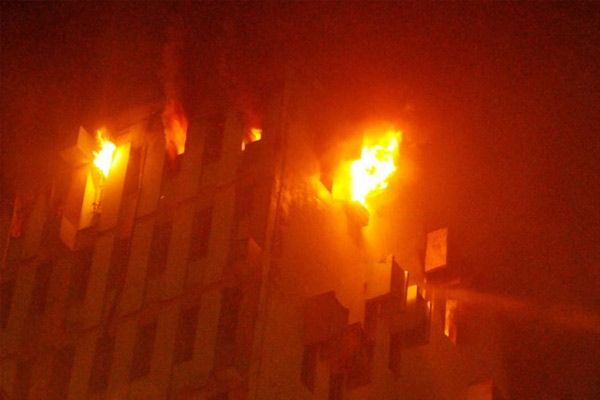 Fire Breaks Out On The 13th Floor Of A Multi Storey Building At Strand Road In Kolkata