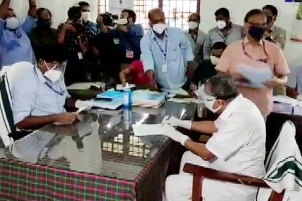CM Pinarai Vijayan filled the nomination from Dharmadam seat