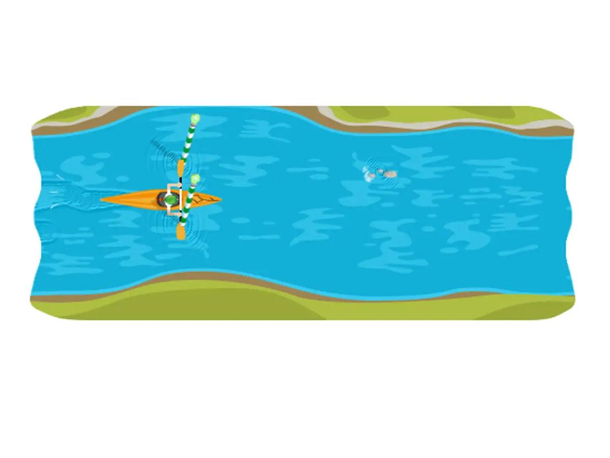 Slalom Canoe Google Doodles Games