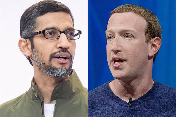 Facebook and Google CEOs blasted