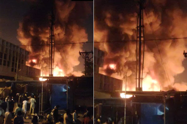 Fire In Fashion Street Market In Camp Area Of Pune Maharashtra