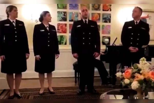 US Navy members sing Indian Song