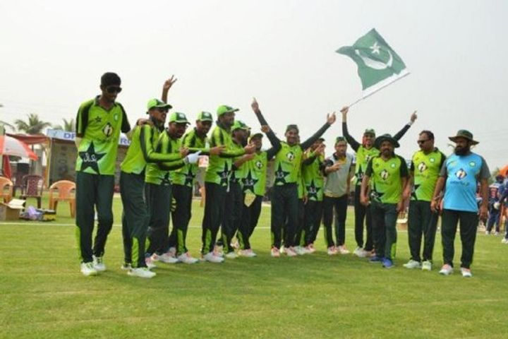 India lost in the final of the trination series and Pakistan Blind Cricket Team won the series
