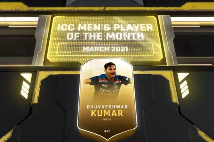 ICC selected Bhubaneswar as the best player of the month of March