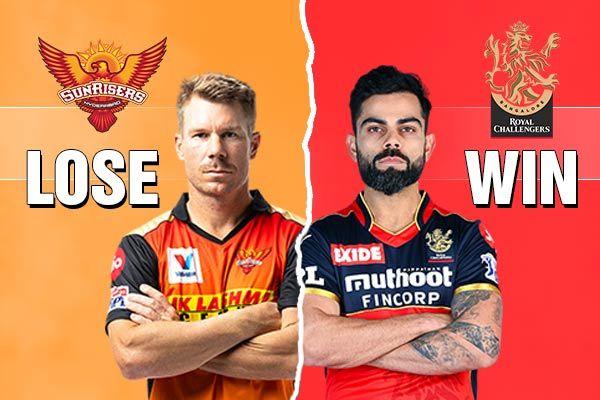 RCB beat Sunrisers Hyderabad by 6 runs