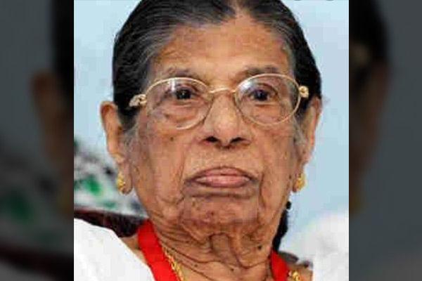 KR Gouri Amma passes away at a hospital in Thiruvananthapuram