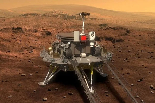 China Jurong rover successfully landed on the surface of Mars