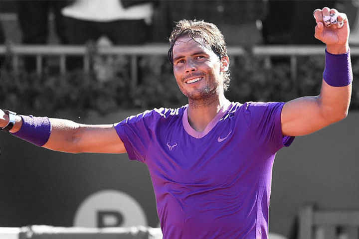 Rafael Nadal defeated Novak Djokovic to win the title of the Italian Open Tennis tournament for the