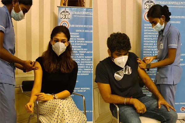 Actress Nayanthara and her boyfriend Vignesh Shivan took the first dose of vaccine