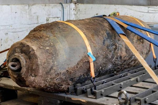Unexploded World War II bomb in Germany