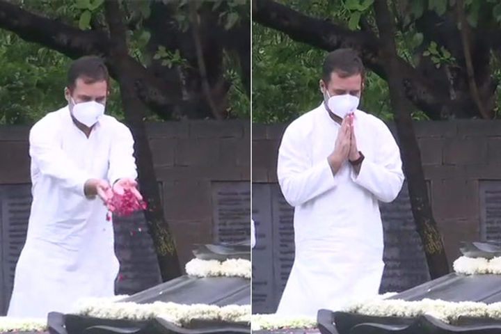 Rahul Gandhi pays floral tribute to former PM and father Rajiv Gandhi on his death anniversary