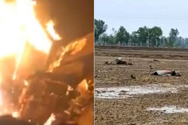 Pilot Of Crashed MIG21 Had Jumped From The Plane Before The Accident In Moga Of Punjab