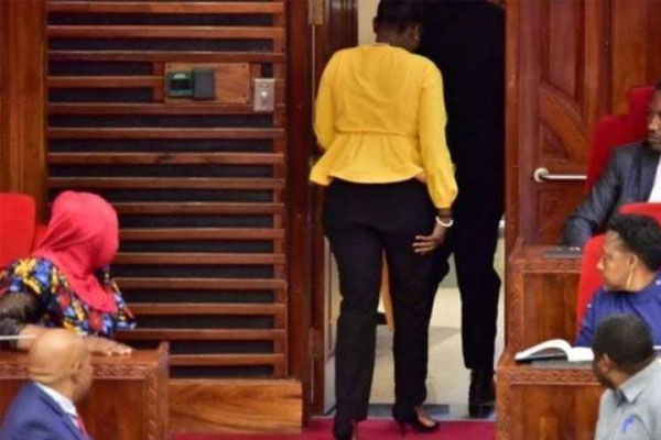 Female MP removed for wearing tight pants