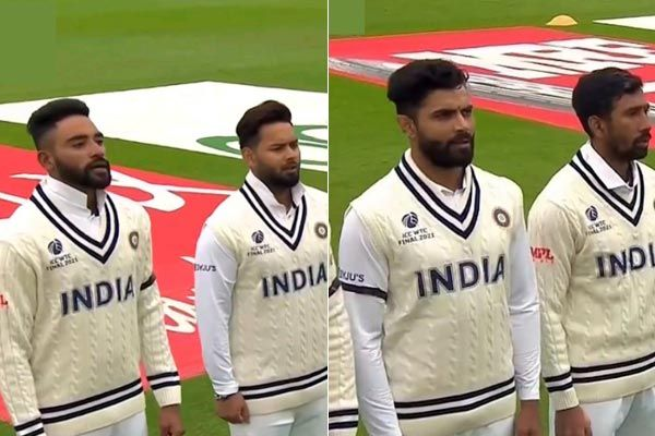 WTC final begins Team India came on the field wearing a black band paying tribute to Milkha Singh