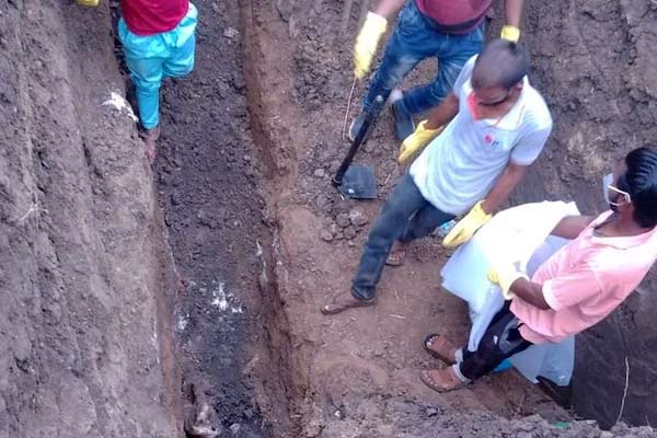 Skeletons discovered from agricultural field
