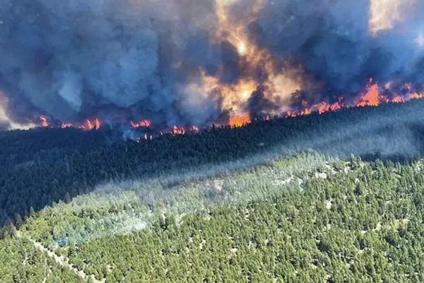 Wildfire in Canadian Village