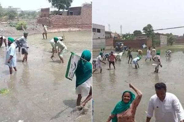 Farmers destroy BJP leader&amprsquos land