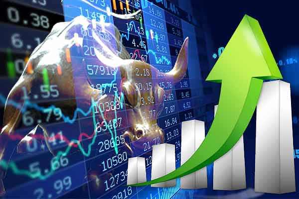 The stock market started on the green mark on the first day of the week