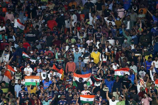 India and England test series will be between 100 percent spectator capacity