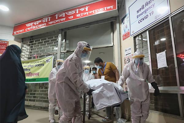 Covid infection in Dhaka