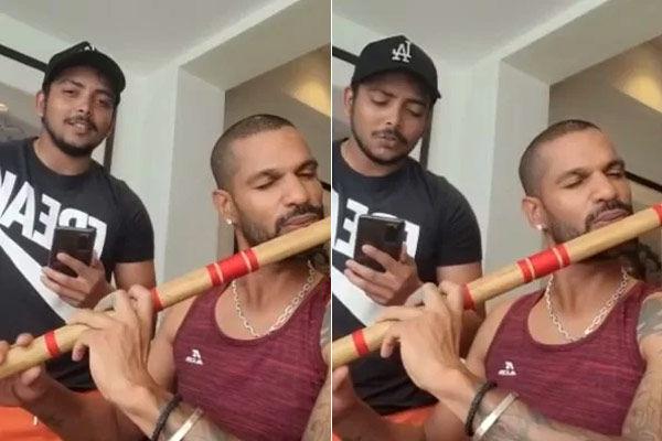 Prithvi Shaw sang Yeh Sham Mastani Shikhar Dhawans flute made people crazy