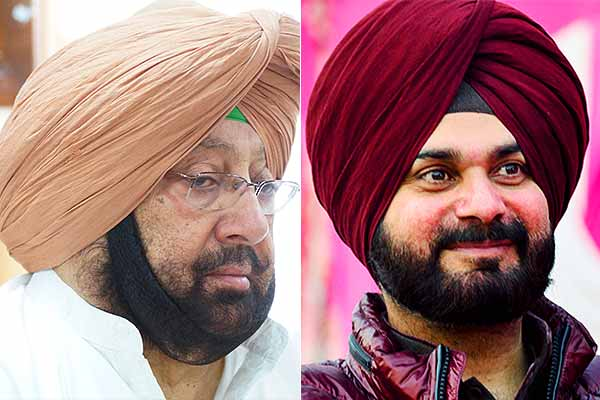 Navjot Singh Sidhu and Amrinder Singh