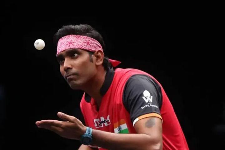 Achanta Sharath Kamal defeats Tiago Apolonia