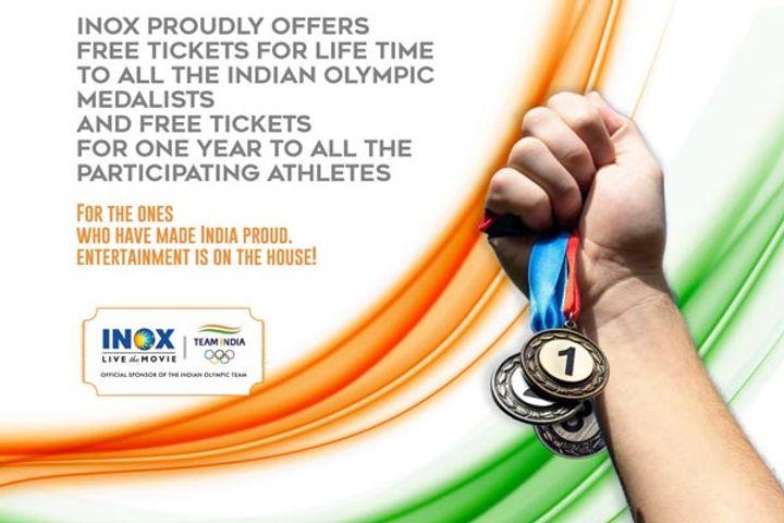 INOX Free Ticket to Tokyo Olympic Medal Winners
