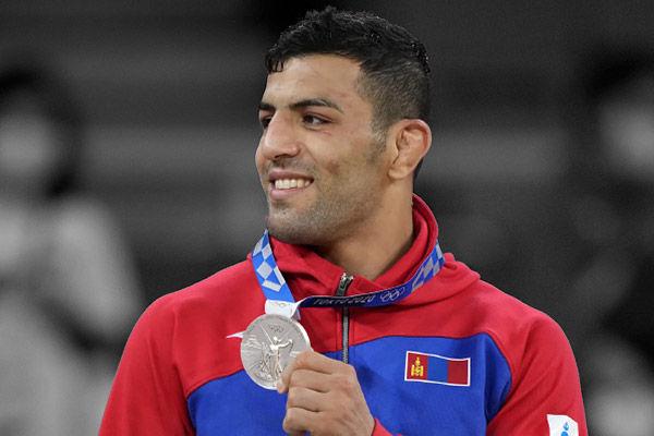 Saeid Mollaei wins silver for Mongolia