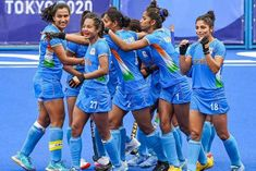 Indian womens hockey team in the semifinals there was an influx of congratulators